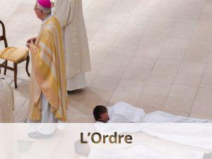 sacrement de l'ordre - ordination