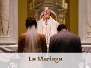 Le sacrement du mariage - Tour du Pin