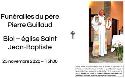 Homélie pour les funérailles du Père Pierre Guillaud